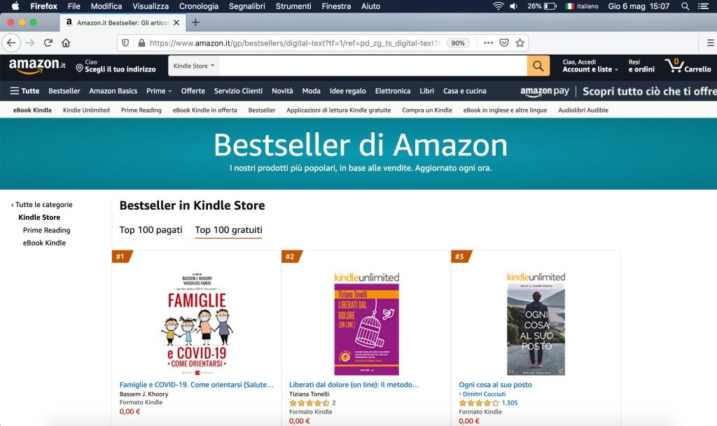 Bestseller di Amazon